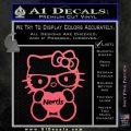 Hello Kitty Loves Nerds Decal Sticker Pink Emblem 120x120