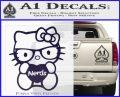 Hello Kitty Loves Nerds Decal Sticker PurpleEmblem Logo 120x97