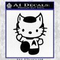 Hello Kitty Spock Decal Sticker Black Vinyl Black 120x120