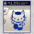 Hello Kitty Spock Decal Sticker Blue Vinyl Black 120x120