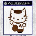 Hello Kitty Spock Decal Sticker Brown Vinyl Black 120x120