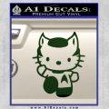Hello Kitty Spock Decal Sticker Dark Green Vinyl Black 120x120
