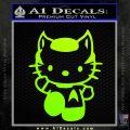 Hello Kitty Spock Decal Sticker Neon Green Vinyl Black 120x120