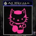 Hello Kitty Spock Decal Sticker Neon Pink Vinyl Black 120x120