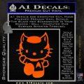 Hello Kitty Spock Decal Sticker Orange Emblem Black 120x120