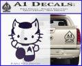 Hello Kitty Spock Decal Sticker Purple Vinyl Black 120x97