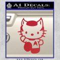 Hello Kitty Spock Decal Sticker Red Vinyl Black 120x120