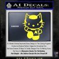 Hello Kitty Spock Decal Sticker Yellow Vinyl Black 120x120