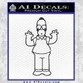 Homer Simpson Decal Sticker Black Vinyl Black 120x120