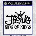 Jesus King Of Kings Decal Sticker Black Vinyl 120x120