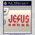 Jesus Rocks Decal Sticker Red 120x120