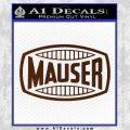 Mauser Firearms Decal Sticker BROWN Vinyl 120x120