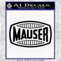 Mauser Firearms Decal Sticker Black Vinyl 120x120
