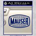 Mauser Firearms Decal Sticker Blue Vinyl 120x120