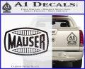 Mauser Firearms Decal Sticker Carbon FIber Black Vinyl 120x97