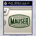 Mauser Firearms Decal Sticker Dark Green Vinyl 120x120