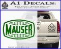 Mauser Firearms Decal Sticker Green Vinyl Logo 120x97