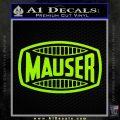 Mauser Firearms Decal Sticker Lime Green Vinyl 120x120