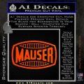 Mauser Firearms Decal Sticker Orange Emblem 120x120