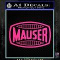 Mauser Firearms Decal Sticker Pink Hot Vinyl 120x120
