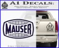 Mauser Firearms Decal Sticker PurpleEmblem Logo 120x97