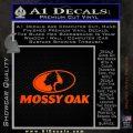 Mossy Oak Decal Sticker Orange Emblem 120x120