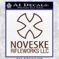 Noveske Rifleworks Llc Decal Sticker BROWN Vinyl 120x120