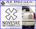 Noveske Rifleworks Llc Decal Sticker Carbon FIber Black Vinyl 120x97