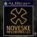 Noveske Rifleworks Llc Decal Sticker Gold Vinyl 120x120