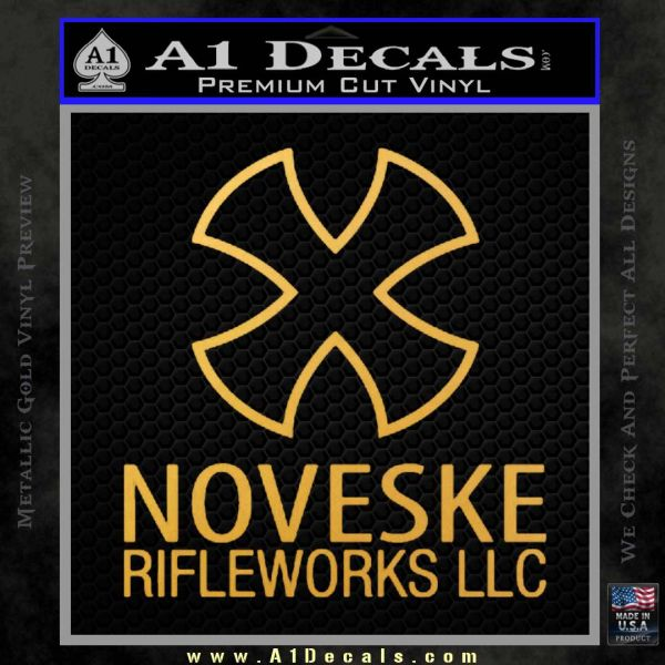 Noveske Rifleworks Llc Decal Sticker Gold Vinyl