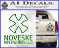 Noveske Rifleworks Llc Decal Sticker Green Vinyl Logo 120x97