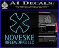 Noveske Rifleworks Llc Decal Sticker Light Blue Vinyl 120x97