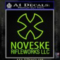 Noveske Rifleworks Llc Decal Sticker Lime Green Vinyl 120x120