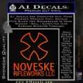 Noveske Rifleworks Llc Decal Sticker Orange Emblem 120x120