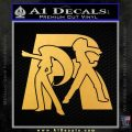 Pokemon Team Rocket Decal Sticker Gold Vinyl 120x120