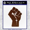 Resistance Fist Decal Sticker Power BROWN Vinyl 120x120