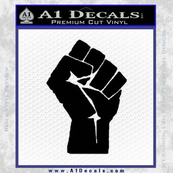 Resistance Fist Decal Sticker Power Black Vinyl