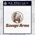 Savage Arms Firearms Decal Sticker BROWN Vinyl 120x120