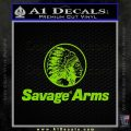 Savage Arms Firearms Decal Sticker Lime Green Vinyl 120x120