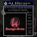 Savage Arms Firearms Decal Sticker Pink Emblem 120x120
