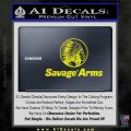 Savage Arms Firearms Decal Sticker Yellow Laptop 120x120