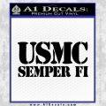Semper Fi Decal Sticker USMC Black Vinyl 120x120