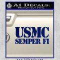 Semper Fi Decal Sticker USMC Blue Vinyl 120x120
