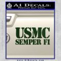Semper Fi Decal Sticker USMC Dark Green Vinyl 120x120