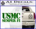 Semper Fi Decal Sticker USMC Green Vinyl Logo 120x97