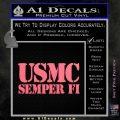 Semper Fi Decal Sticker USMC Pink Emblem 120x120