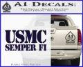 Semper Fi Decal Sticker USMC PurpleEmblem Logo 120x97