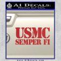 Semper Fi Decal Sticker USMC Red 120x120
