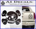 Skull and Cross Bones Stylized Decal Sticker CFB Vinyl Black 120x97