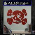 Skull and Cross Bones Stylized Decal Sticker DRD Vinyl Black 120x120